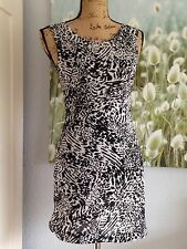 Mango Casual tolles Mini Etui Kleid Animal Print Tunika Gr. XS 34 neuwertig