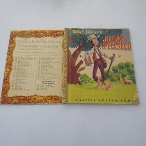 Walt Disney JOHNNY APPLESEED D1 PRE 1950 scroll back little golden book SYDNEY