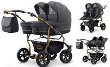 Carro Carrito Gemelar Gemelos - 3 Piezas Capazos+sillas+Grupo 0+accesorios Duet