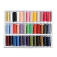 39pcs 200 Yard Mixed Colors Polyester Spool Sewing Thread For Hand Machine Set