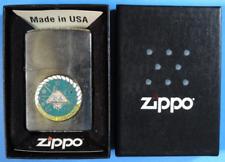 Rare 2010 Zippo Brush Chrome USS Dwight Eisenhower 69 Enamel Emblem Lighter