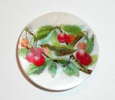 """Bird In Cherry Tree Button / Mother of Pearl MOP Shank Button 1+3/8"""" Cherry Tree"""