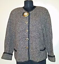 Muncher Strickmoden German Alpine  Classic Boiled Wool Sweater Jacket  ~42/US 12