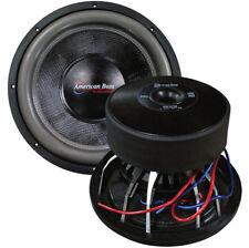 "American Bass HD12D2 12"" Woofer 3000 Watts Max 2 Ohm DVC"