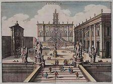 Rom Kapitol - Capitolium - Kapitolhügel - Ansicht von Merian 1640