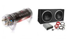 "BPKG212v2 1200W Dual 12"" Subs + Ported Box + Amp Kit + 1 Farad Cap Bass Package"