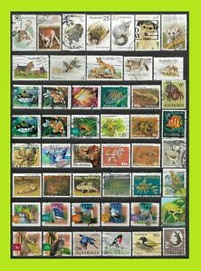 Australia Animal Stamps Collection - 48 Used Stamps