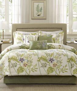 Madison Park Kannapali 7-Pc. Queen Comforter Set Green