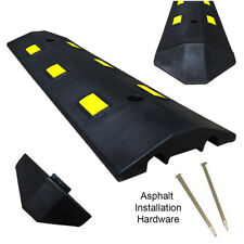 3Ft Asphalt Light Weight Speed Bump Traffic Road Safety Control Black & Yellow