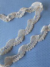bande de  dentelle au crochet fait main 67 cmx3.cm@old lace