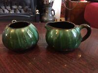 Lovely Blue Mountain Pottery Milk Jug & Sugar Bowl