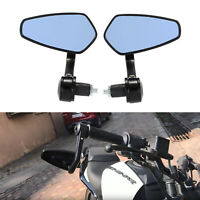 HANDLE BAR END MIRRORS ALUMINUM UNIVERSAL CAFE RACER MOTORBIKE For Streetfighter
