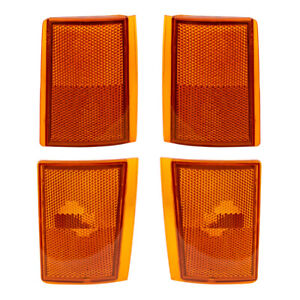 Side Markers Set fits Chevy Pickup Blazer Suburban Upper & Lower Reflector Lamps