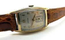 AWESOME ANTIQUE LONGINES 10K GOLD FILLED MEN'S TANK WRIST WATCH ~RUNS WELL~