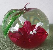 "Caithness Paperweight ""Windfall Ruby"" #6391111 Retired"