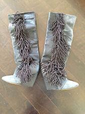Gorgeous Isabel Marant gray and black fringe boots! Size 37!