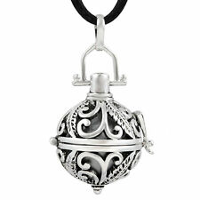 Angel feather Harmony ball pendant baby caller Pregnancy bola bell Necklace H54
