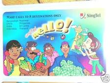 Used Singapore Singtel hello Phone Card