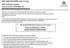 Polycom RMX-MPMx5HD Upgrade License.  5150-18250-105