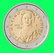 2 Euro Gedenkmünze San Marino 2018 * 420. Geb. von G.L. Bernini* Klappkarte VVK