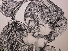 Luc SIMON (1924-2011) Surréalisme Epreuve d'Artiste Dédicacée Paloma Picasso