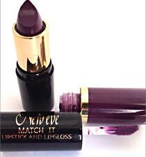 New Eve Trendy PLUM  Match it Lipstick and Lip Gloss Cosmetic  Makeup