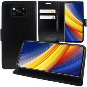 """Handy Schutzhülle Für Xiaomi Poco X3 Pro 6.67"""" Brieftasche Cover SCHWARZ"""