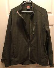 Merrell Windbreaker Light Softshell Jacket MENS L Green Plaid