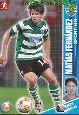 078 MATIAS FERNANDEZ CHILE SPORTING PORTUGAL CARD MEGACRAQUES 2010 PANINI