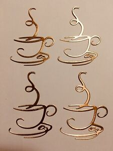 """""""CUP OF JOE"""" COFFEE, ESPRESSO SILHOUETTE DIE CUT /CUTS, EMBELLISHMENT-GOLD TONE"""