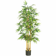 "Bamboo Silk Tree Realistic Artificial Nearly Natural 64"" Home Garden Decoration"