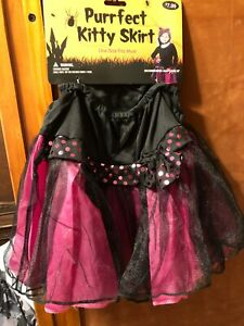 BRAND NEW IN PACKAGE PURRFECT KITTY SKIRT AGES 3 AND UP ONE SIZE FITS MOST GIRL