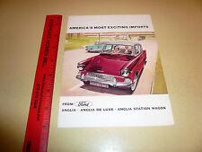 English Ford Anglia Anglia De Luxe Anglia Wagon Sales Brochure -- Vintage --