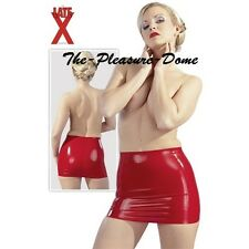 Latex Minirock Short Mini Skirt Red Shiny Wet Look Rubber Lightweight Very Sexy