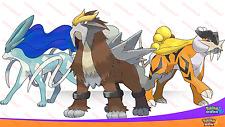 Shiny 6IV Legendary Beast Trio Entei Raikou Suicune Pokemon Ultra Sun Moon SM