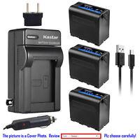 Kastar NP-F980 Battery AC Charger for Sony NP-F960 MVC-FD73 MVC-FD75 MVC-FD81