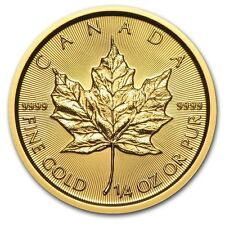 PIECE OR 10 DOLLAR CANADA MAPLE LEAF 1/4 once d'or années mixtes (random year)
