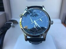 Jaeger-LeCoultre Master Geographic 142.8.92.S Black Dial Watch with Box & Paper