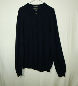 Eddie Bauer Mens Pullover Fine Italian Merino Wool Sweater EXTRA LARGE XL