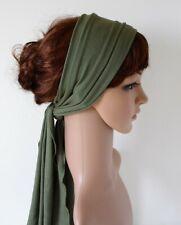 Head bandanna, hair tie, jersey headscarf, stretchy long headband, hair scarf