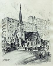 "Frederick Polley ""City Church"" 9.5"" x 7.5"" Print"
