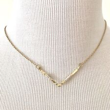 Canvas Jewelry Womens Wire Wrap Necklace Chevron Pendant Accessory Gold Plated