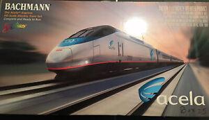 HO Bachmann Spectrum Amtrak Acela Express Passenger Train Complete Train Set