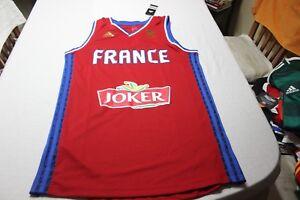 Maillot Basket-Ball Sélection de France Adidas Taille M Joker Cotizada T-Shirt