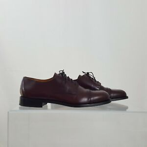 Cole Haan Sz. 8.5 Caldwell Oxford Mens Oxblood Leather Cap Toe Lace Dress 08331