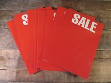 "SALE / NEW Retail Red Backer Cards 5.5"" x 8"" CD Display Music Store  (Lot of 20)"