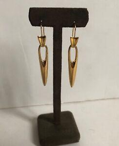 Robert Lee Morris Gold Plated Pierced Needle Earrings
