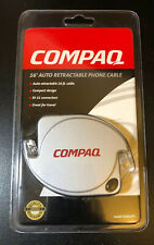 Compaq 16' Auto Retractable Phone Cable - Compact - Great for Travel -  New!