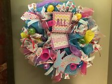 Easter Wreath, Holiday Indoor Hanging Wall Decoration