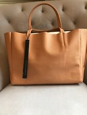 Ampersand as Apostrophe Sideways Tote with Pouch in CANTALOUPE - NEW with TAGS